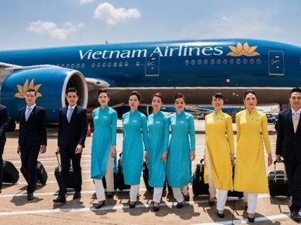 May áo dài đồng phục cho các hãng hàng không