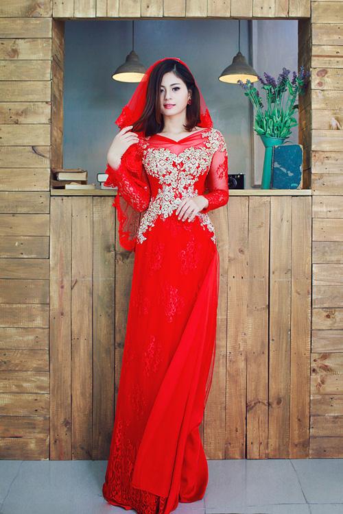 May áo dài cưới rẻ đẹp chất lượng cao