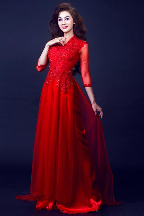 May áo dài cưới rẻ đẹp